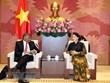 Respalda presidenta del Parlamento de Vietnam cooperación judicial con Singapur