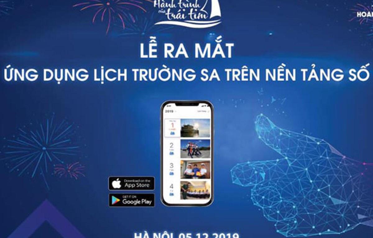 Publican aplicación móvil de calendario con imágenes de archipiélago vietnamita Truong Sa