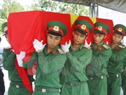 Repatrían restos de combatiente vietnamita caído en Laos