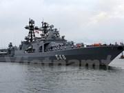 Flota de la Armada rusa visita Da Nang