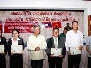 Concluye primer curso de vietnamita para funcionarios de Laos