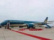 """Vistas cercanas de """"súper avión"""" Airbus A350 de Vietnam Airlines"""