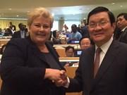 Actividades del presidente vietnamita en marco de Cumbre de ONU