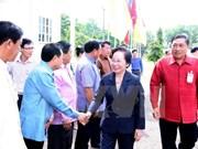 Vicepresidenta vietnamita visita provincia laosiana de Vientiane