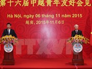 Nguyen Phu Trong y Xi Jinping se reúnen con jóvenes destacados