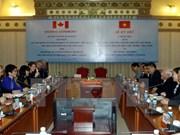 Localidades vietnamita y canadiense forjan cooperación comercial