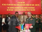 Vietnam y Sudáfrica sostienen diálogo de políticas de defensa