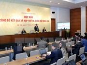 Asamblea Nacional concluye con éxito su décimo periodo de sesiones