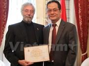 Vietnam honra a arquitecto argentino por su ayuda a víctimas del Agente Naranja