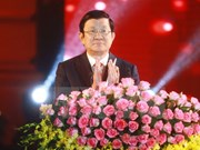 Presidente de Vietnam se reúne con coterráneos residentes en extranjero