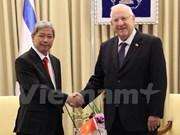 Presidente de Israel desea intensificar lazos con Vietnam