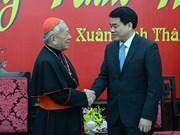 Autoridad de Hanoi felicita a comunidades católicas por Tet