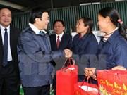 Visita presidente de Vietnam provincias norteñas en ocasión del Tet