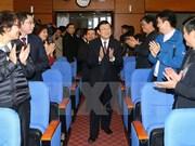 Dirigentes del Estado felicitan al Grupo Nacional de Petróleo en ocasión del Tet