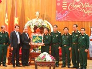 Vicepremier visita a soldados en ocasión de Año Nuevo Lunar