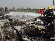 Cuatro muertos al estrellarse un avión militar en Myanmar