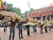 Fiesta primaveral de res de paja en Vinh Phuc