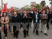 Presidente une festival anual de primavera con grupos étnicos