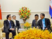 Dirigentes camboyanos reciben al enviado especial del líder partidista vietnamita