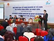 Vietnam y Japón comparten experiencias en examen de contratación de funcionarios