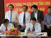 Firman acuerdo de cooperación informativa entre VNA y Long An