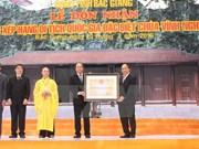 Pagoda Vinh Nghiem reconocida como patrimonio nacional especial de Vietnam
