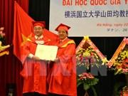 Distinguido profesor japonés con título honorífico vietnamita