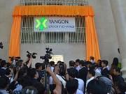 Mercado de valores de Myanmar inicia primeras operaciones bursátiles