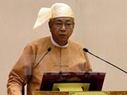 Htin Kyaw jura como presidente de Myanmar