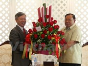 Embajador vietnamita felicita al nuevo presidente de Laos