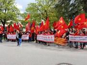 Protestan en Alemania contra acciones de China en Mar del Este