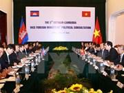 Cancillerías de Vietnam y Camboya realizan consulta política