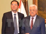 Presidente palestino aboga por fomentar amistad con Vietnam
