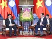Presidente vietnamita recibe al primer ministro de Laos