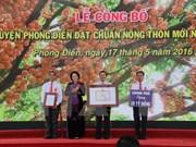 Líder parlamentaria vietnamita elogia construcción de nueva ruralidad en Can Tho