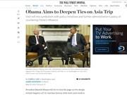 Periódicos de EE.UU. y Bélgica destacan visita a Vietnam de Obama