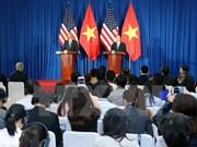 Presidentes vietnamita y estadounidense copresidieron rueda internacional de prensa