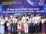 Conceden en Vietnam premio nacional de informaciones al exterior 2015