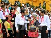 Atención infantil es tarea estratégica de Vietnam, afirmó presidente