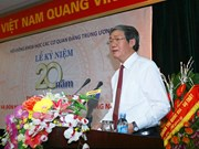 Encomian en Vietnam aportes del Consejo de Ciencia de órganos partidistas centrales