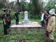 Provincias de Vietnam y Laos revisan labores de remozamiento de postes fronterizos