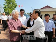 Líder partidista vietnamita realiza visita de trabajo a localidad sureña
