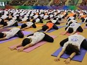 Gran meditación colectiva en Hanoi en Día Internacional de Yoga