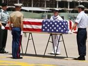 Repatrían restos de militares estadounidenses