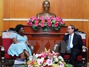 Presidente del Frente de Patria resalta aportes a Vietnam de Victoria Kwakwa