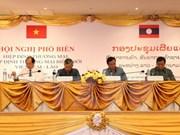 Acuerdos facilitan comercio entre Vietnam y Laos