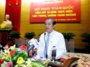 Piden en Vietnam más esfuerzos contra la corrupción