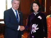Vicepresidenta vietnamita dialoga con Juan Manuel Santos en La Paz