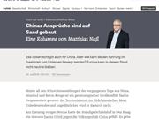 Periódico alemán critica postura de China después del veredicto del PCA