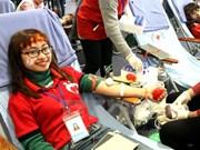 Amplia participación popular en donación voluntaria de sangre en Phu Tho